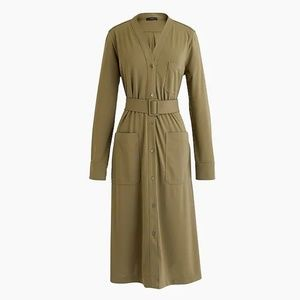 J.Crew Long-sleeve belted knit dress